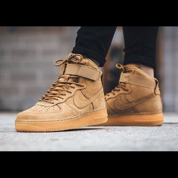 reputable site 095f5 33cd1 NEW Nike Air Force 1s suede camel gum. M 5b4f6d1ac89e1d0e578bc5c1